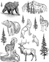 Wildlife Unmounted Rubber Stamp Sheet